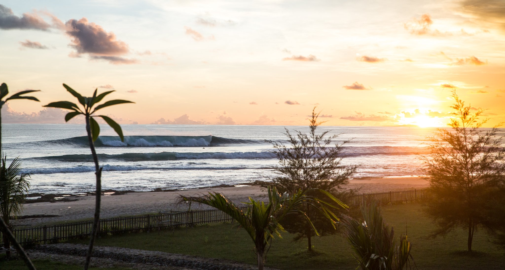 Simeulue Island Surf Spot: The Peak in front of Mahi-Mahi Bungalows